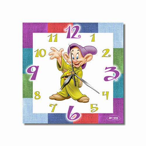 Dopey 11.8'' Handmade Art Wall Clock - Get Unique décor for Home or Office – Best Gift Ideas for Kids, Friends, Parents and Your Soul Mates - Made of Plastic - Disney Plastic Clock