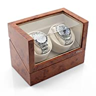 Versa Elite Double Watch Winder in Cherrywood