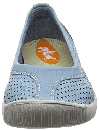 Softinos Damen Iol389sof Pumps Trainers Turquoise (Pastel Blue)