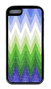 iPhone 5C Case, iPhone 5C Cases - patterns abstract colors parallax 1 1 7 Custom Design iPhone 5C Case Cover - Polycarbonate¨CBlack
