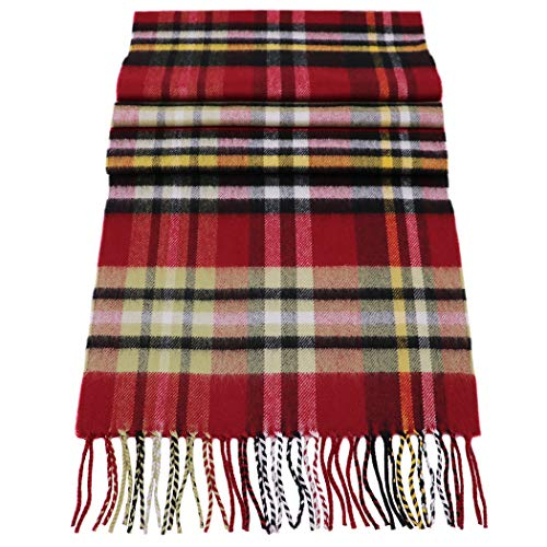 Rosemarie Collections 100% Cashmere Winter Scarf Made In Scotland (Piper Plaid)