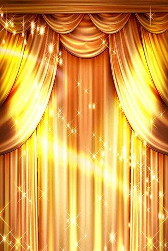 GladsBuy Golden Performance 8' x 12' Digital Printed Photography Backdrop Curtain Theme Background YHB-051 by GladsBuy