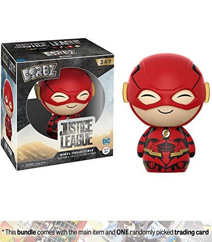 The Flash: Funko Dorbz x Justice League Vinyl Figure + 1 Official DC Trading Card Bundle (14134)