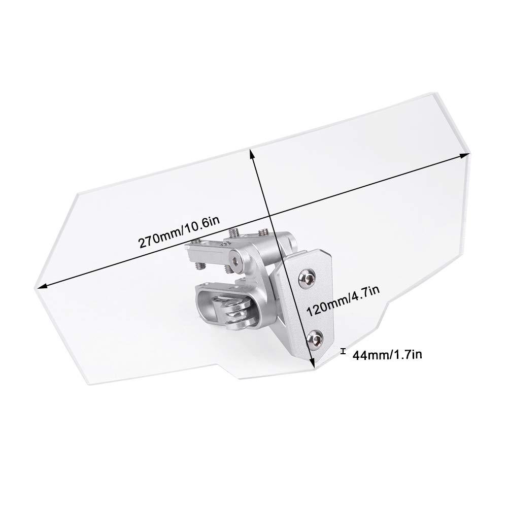 D/éflecteur de Vent Universel R/églable pour Pare-Brise de Moto