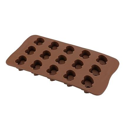 Hunpta - Molde de silicona para horno de chocolate B