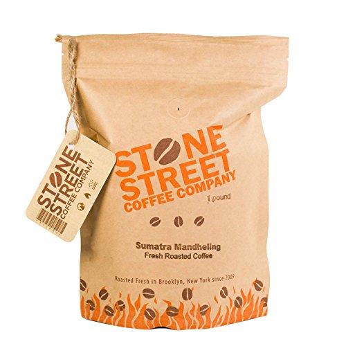INDONESIAN SUMATRA MANDELING | Ground Coffee | 1 LB Bag | Dark Roast | Single Origin Small Batch Roasted in Brooklyn | Naturally Processed 100% Arabica | Full Body, Bold, Rich, Complex (Sumatra Mandheling Gourmet Coffee)