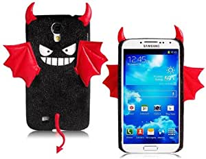Cartoon Devil Design Velvet Skin Plastic Case for Samsung Galaxy S4/i9500 (Black)