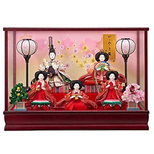 雛人形 5人ガラスケース 【春光】 小三五 5人飾り [間口53cm] 【fn-53】 ひな祭り   B07JYTSFV1