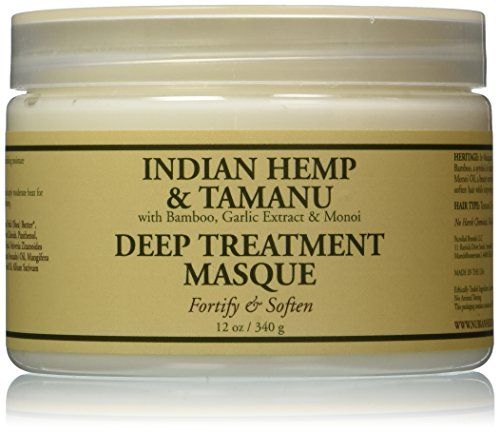 Nubian Heritage Grow and Strengthen Treatment Hair Masque, Indian Hemp and Tamanu, 12 Ounce