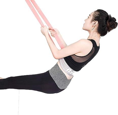 Equipos De Estiramiento - Cinturón elástico de Yoga: Material de algodón Que cuelga de la Puerta de Arriba a Abajo, Cintura, piernas, Entrenamiento de Fuerza, fácil de Llevar Banda elástica: Amazon.es: Deportes