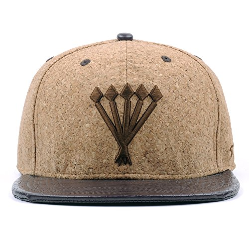 Cool Sawdust Snapback Hats for Men Women Cork Flat Bill Adjustable Baseball Caps Best for Sports and Outdoors, Cycling, Ski, Hiking - Unique Material Structure Flat Brim