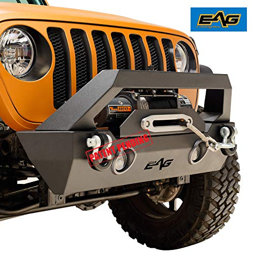 EAG LED Lights Front Bumper with Winch Plate ()