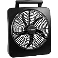10 BATTERY OPERATED INDOOR/OUTDOOR FAN with ADAPTER