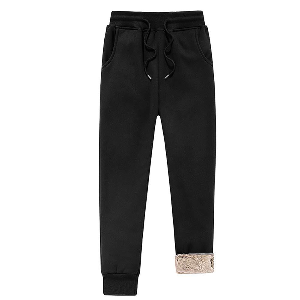 c/álidos Gruesos Casuales Starmood con Forro Polar Pantalones Deportivos para Hombre para Invierno Sueltos