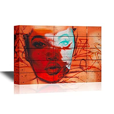 Original Creation, Handsome Design, Graffiti with Woman's Face