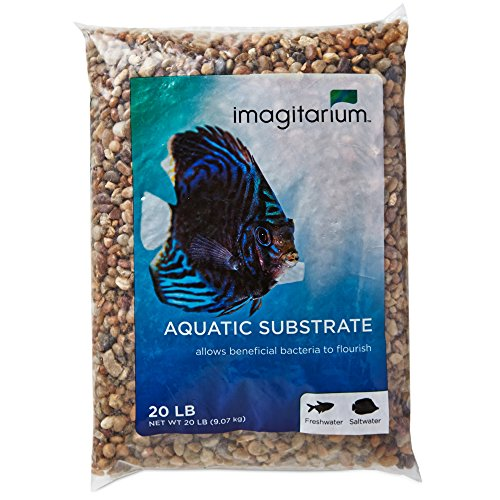 Imagitarium River Rock Shallow Creek Aquarium Gravel, 20 LBS