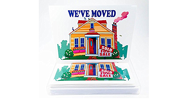 20 NEW HOME MOVING HOUSE CARDS /& ENVELOPES CHANGE OF ADDRESS 10x2