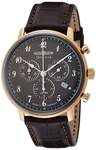 ZEPPELIN watch Hindenburg Black Dial Chronograph Date 70,842 Men's [regular imported goods]
