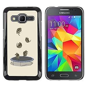 Paccase / SLIM PC / Aliminium Casa Carcasa Funda Case Cover para - Trampoline Funny Cartoon Cute Animals - Samsung Galaxy Core Prime SM-G360