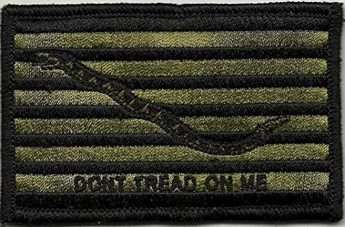 Navy Shoulder Patches - Shoulder Patch - Navy Jack Don't Tread On Me - Olive Drab
