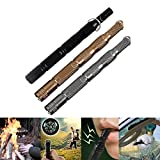 Ezyoutdoor Portable Fire Striker Flint Magnesium Rod Fires with Compass for Wilderness Survival Hunting Self Defense Travel Backpacking Outdoor Living Camping Hiking Waterproof (random color)