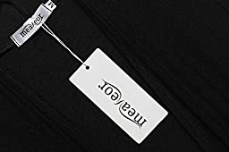 Meaneor Women\'s Super Comfortable Front Open Sleeveless Outwear Black XL