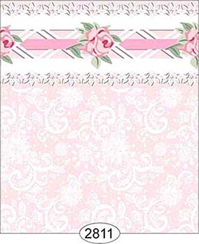 Pink Dollhouse 1:12 Scale Wallpaper Daniella Floral Stripe