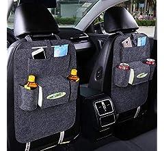 Kloius Bolsa de almacenamiento para asiento de autom/óvil Funda de fieltro multibolsillo para autom/óvil Organizador para almacenamiento de organizador Organizadores para coche