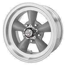 "American Racing Custom Wheels VN105 Torq Thrust D Torq Thrust Gray Wheel With Machined Lip (15x7""/5x114.3mm, -6mm offset)"