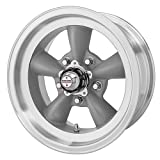 "American Racing Custom Wheels VN105 Torq Thrust D Torq Thrust Gray Wheel With Machined Lip (15x7""/5x114.3mm, -6mm offset)"