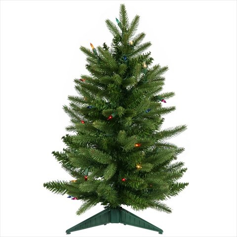 VCO 2' Pre-Lit Frasier Fir Artificial Christmas Tree - Multi Lights