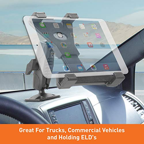 """iBOLT TabDock Bizmount AMPs - Heavy Duty Drill Base Mount for All 7"""" - 10"""" Tablets ( iPad , Samsung Tab ) for Cars, Desks, Countertops: Great for Commercial Vehicles, Trucks, Schools, and Businesses"""
