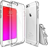 iPhone 6s Plus Case, Ringke [Fusion] Clear PC Back TPU Bumper w/ Screen Protector [Drop Protection/Shock Absorption Technology][Attached Dust Cap] For Apple iPhone 6s Plus / 6 Plus - Crystal