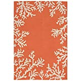 Liora Manne Monaco Shell Border Rug, Indoor/Outdoor, 7'6'' by 9'6'', Coral