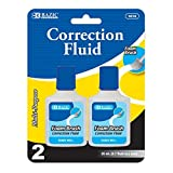BAZIC Correction Fluid with Foam Brush 144 Packs of 2