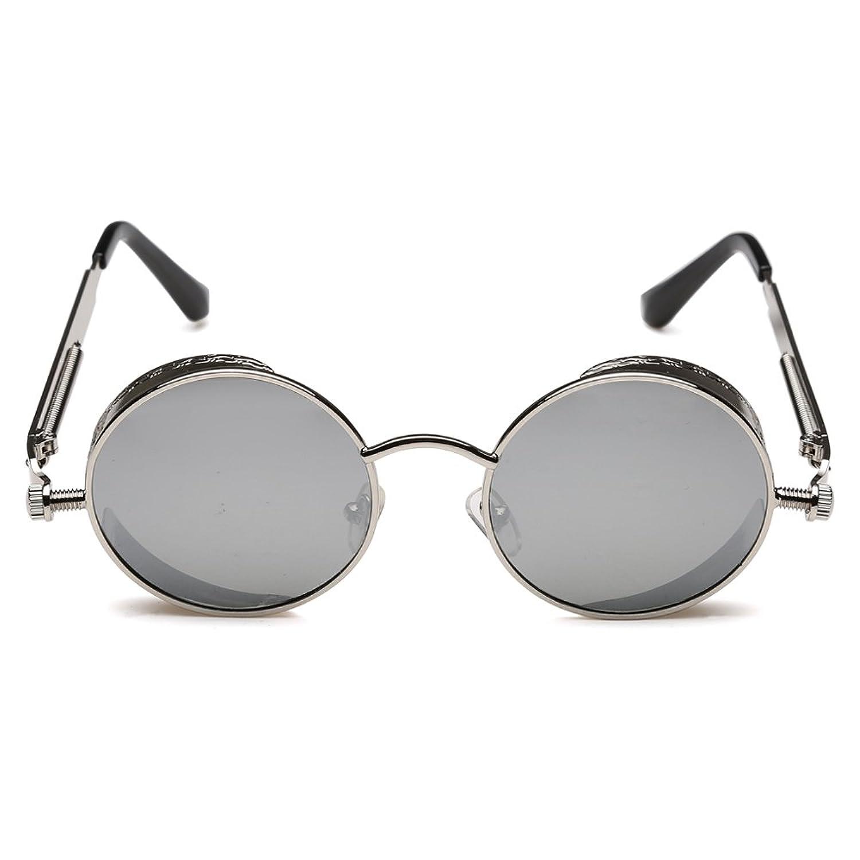 75bb9876e28 Rocknight Gothic Steampunk Polarized Sunglasses For Men Women Round ...