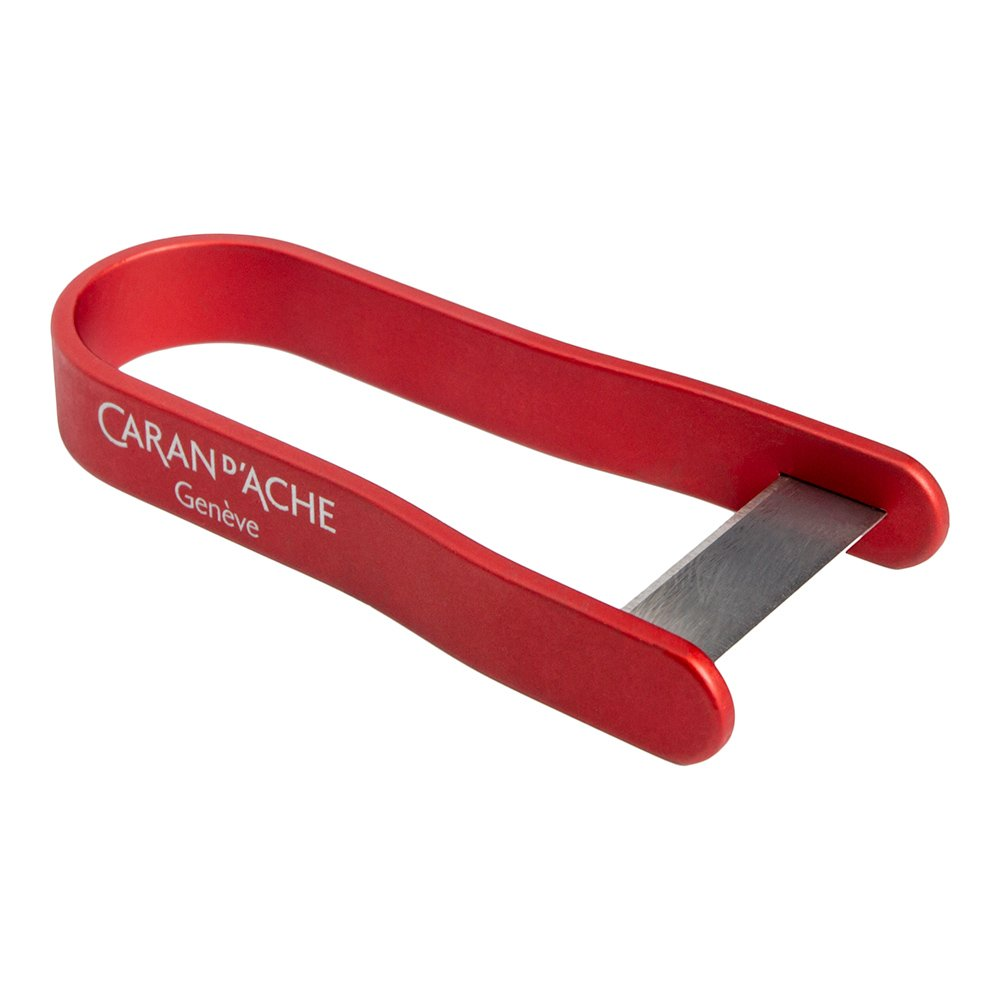 Caran d'Ache Aluminum Pencil Peeler, Red (475.070)