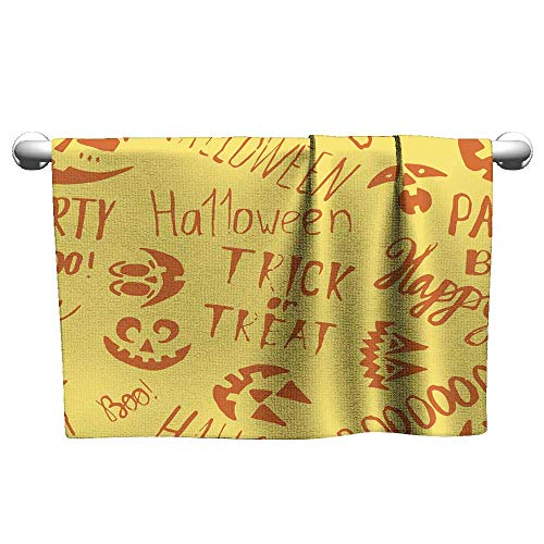 Andasrew Cute Hand Towels Doodle Hand Drawn Halloween Endless Pattern Vector Illustration,Hand Towel Stands for bathrooms -
