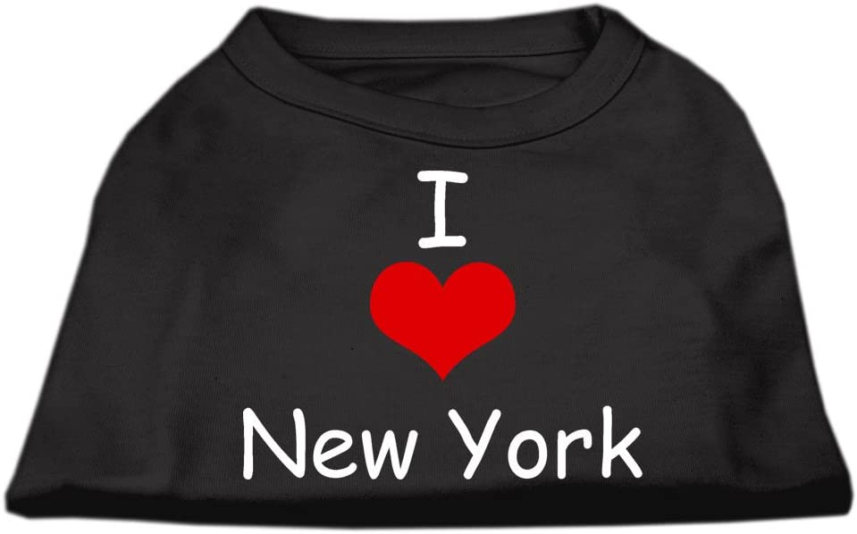 Mirage Pet Products 12-Inch I Love New York Screen Print Shirts for Pets, Medium, Black by Mirage Pet Products
