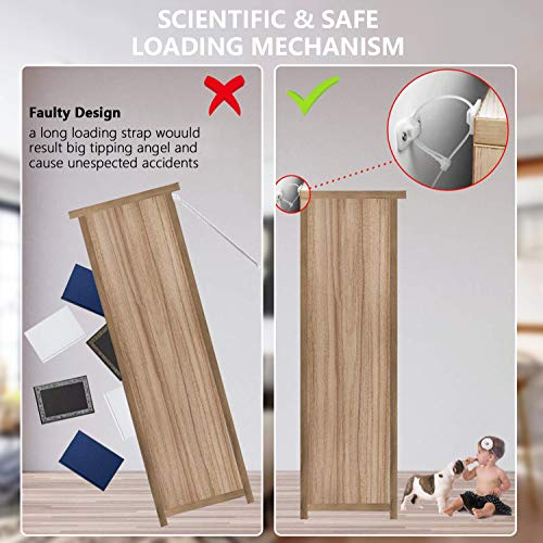 12 Set Heavy Duty Baby Proofing Anti Tip Furniture Wall Anchors Nylon Strap Kit Furniture Straps Prevent Furniture Falling Device for Child Safety /& Pet Protection
