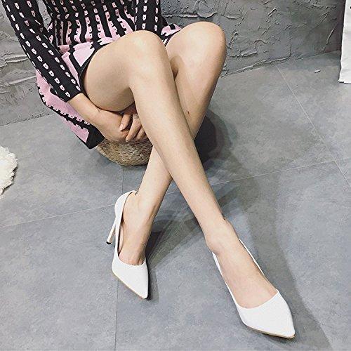 ZHZNVX ZHZNVX ZHZNVX Der frühe Frühling neue High Heels einfache Tipps Schuhgröße ist fein mit einzelnen Schuhe 01469c