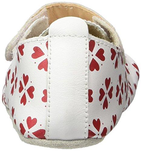 Bobux Baby Mädchen Trainer mit Herzen Slipper Weiß (Weiß)