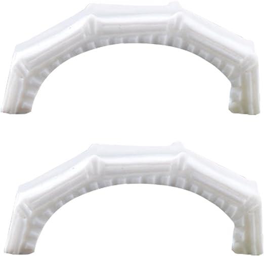 Vi.yo Figura de puente de piedra blanca de resina, diseño de hadas para jardín, miniatura, terrario y suculentas: Amazon.es: Jardín