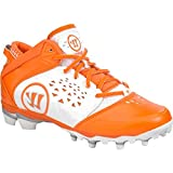 Warrior NEW Mens Adonis Lacrosse Cleats White/Orange Sz 10 M