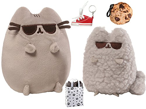 GUND Pusheen & Stormy Sunglasses Collector Set, Cookie Clip, Keychain & Bag Multi-Pack (Pusheen Sunglasses)