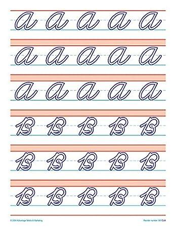 Amazon.com : Raised Line Paper Cursive Uppercase Letter Set (4 ...