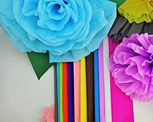 Crepe Paper 12 Different Colors Flower Making Art Projects Crepe Paper
