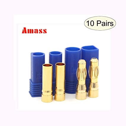 Quality Genuine Amass EC5 Male//Female 90A Plug Bullet Connectors NEW 2 pairs