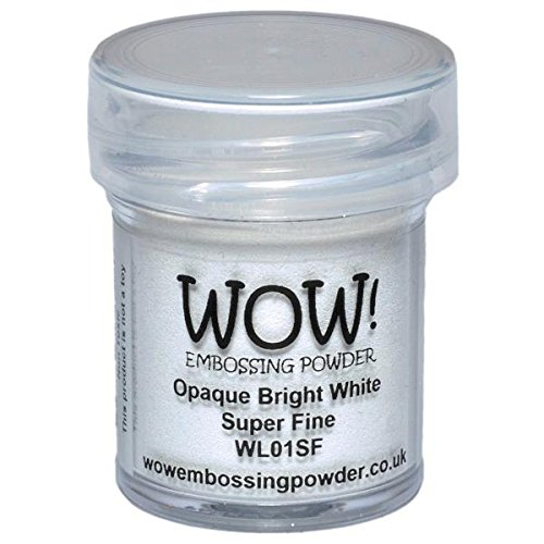 Wow Embossing Powder WOW! Super Fine Embossing Powder, 15ml, Opaque Bright White