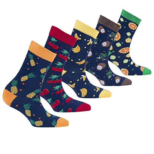 Socks n Socks-Kids 5pk Fun Cotton Colorful Juicy Fruits Socks Gift -